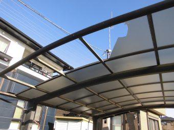 埼玉県熊谷市修理工事・カーポート屋根