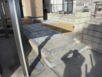 埼玉県鴻巣市リフォーム工事・外構リフォーム・駐車スペース