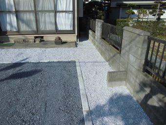 埼玉県鴻巣市外構リフォーム工事・駐車スペース