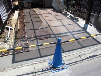 埼玉県鴻巣市外構リフォーム工事・駐車スペース改修