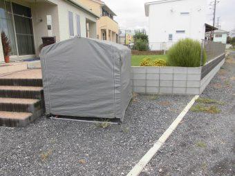 埼玉県深谷市岡・木製サイクルポート