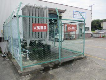 埼玉県行田市工場敷地内・フェンス修理