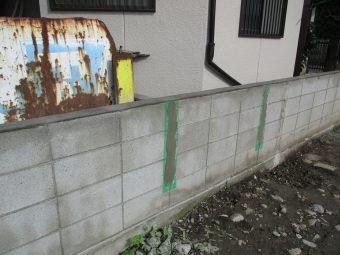 埼玉県熊谷市久下・境界ブロック工事