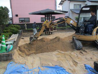 埼玉県鴻巣市箕田・アパート敷地内公園整備